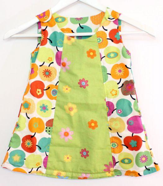 Baumwoll-Kleid Blumen-Apfel Gr.80/86
