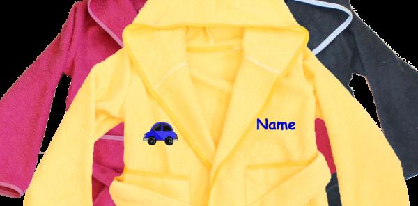 Bademantel mit Name und Motiv: Auto