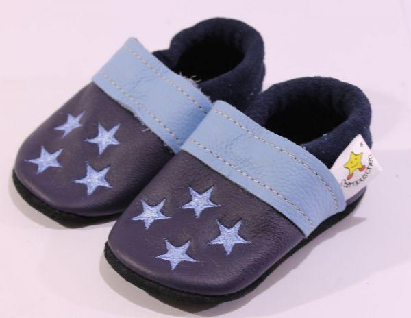 Größe 19 Sterne blau hellblau