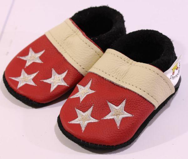 Größe 19 Sterne rot beige
