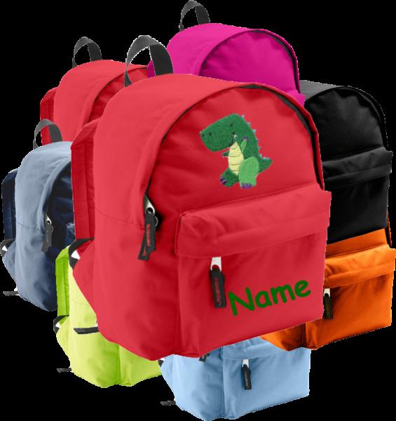 Rucksack in 2 Größen aus Stoff Model: Dino