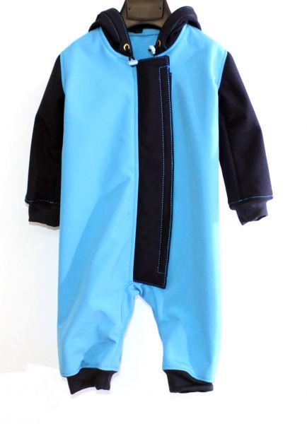 Softshellanzug smaragd / dunkelblau
