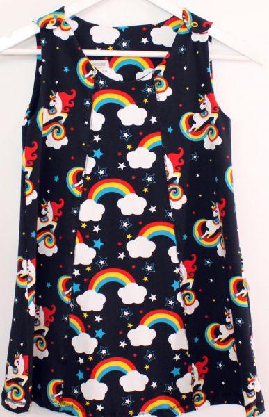 Jersey-Kleid Einhorn Gr.116/122