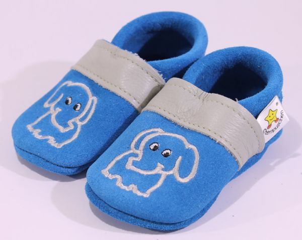 Gr.20 Elefant blau grau Wildlerder