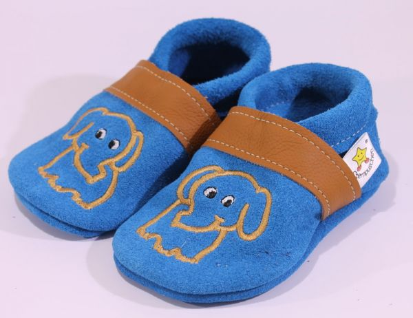 Gr.23 Elefant blau braun Wildleder