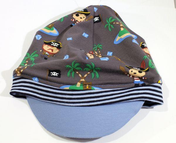 Jersey-Schirmmütze Pirat 56-58