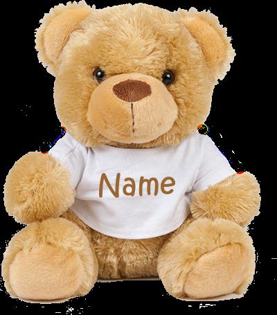 Teddy mit Name in verschieden Größen