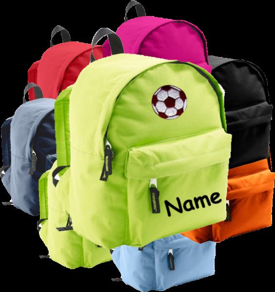 Rucksack in 2 Größen aus Stoff Model: Fussball
