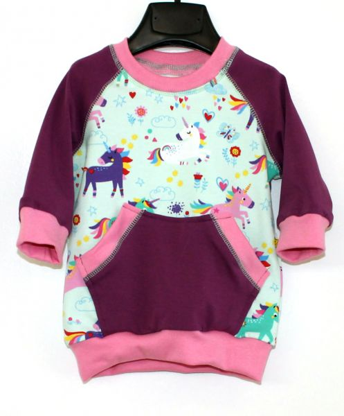 Pullover Einhorn mint / rosa / lila