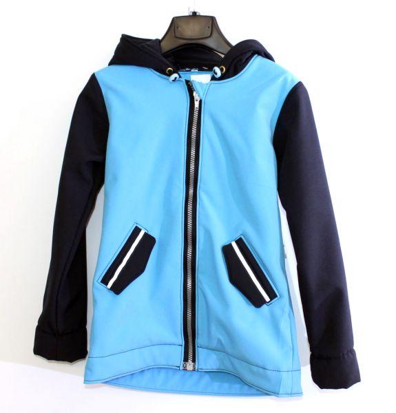 Softshell-Jacke smaragd / dunkelblau