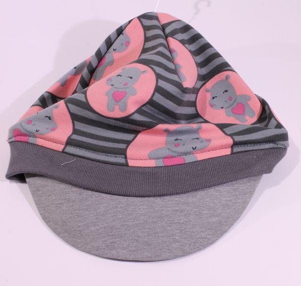 Jersey-Schirmmütze Hippo 47-49