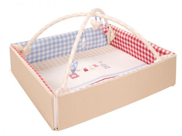 """Baby Nest mit Spielbogen""""Sunny Day"""" - mit Namens-stickerei-"""