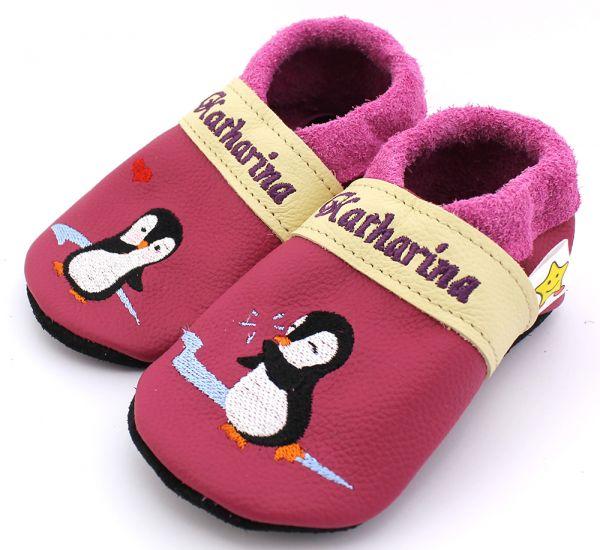 Lederpuschen Pinguin