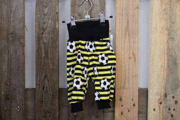 Kinderhose Gr. 62 Fußball gelb/schwarz