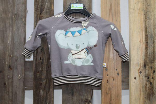 Rundhals-Pullover grau mit Koalabär