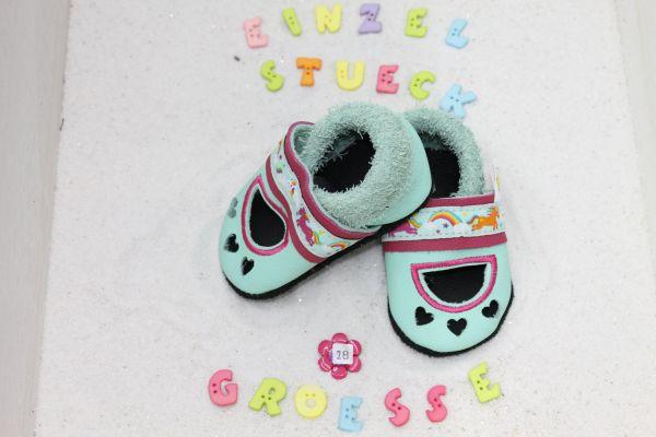 Lederpuschen Gr.18 Sandale