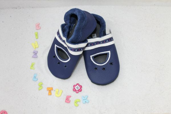 Lederpuschen Gr.26 Sandale