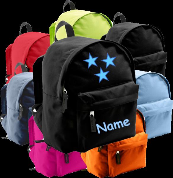 Rucksack in 2 Größen aus Stoff Model: Sterne blau