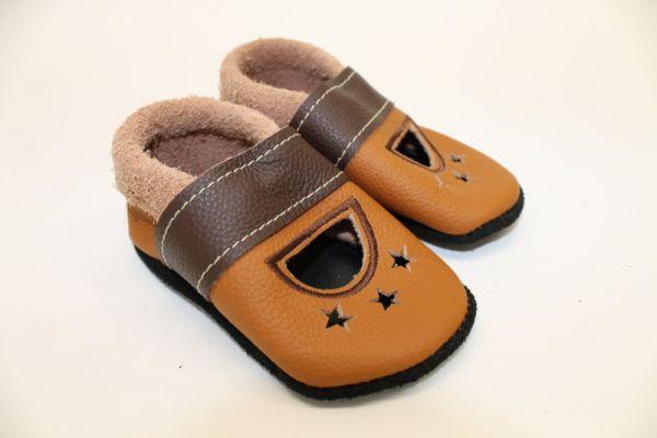 Lederpuschen Gr.20 Sandale