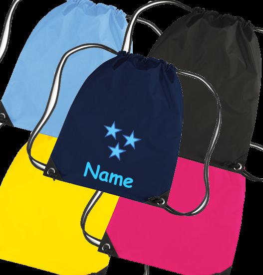 Turnbeutel in diversen Farben Model: Sterne Blau