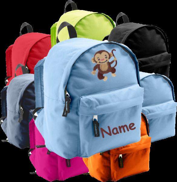 Rucksack in 2 Größen aus Stoff Model: Affe