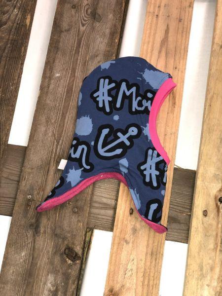 Wende-Schlupfmütze #Moin pink