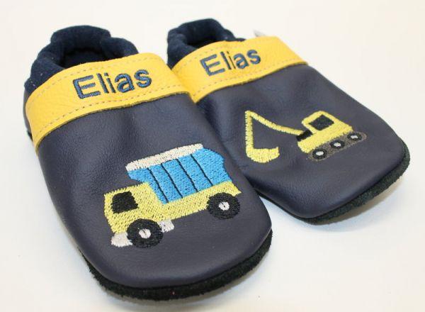 Puschen Gr.25 mit Name: Elias