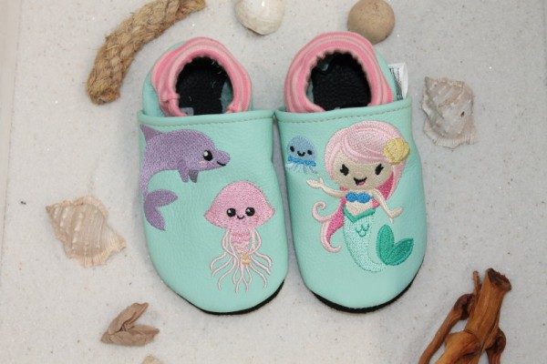 Lauflernschuhe-Softbündchen Meerjungfrau