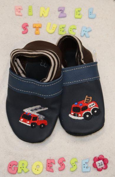 Lederpuschen Gr.22 Feuerwehr 4208