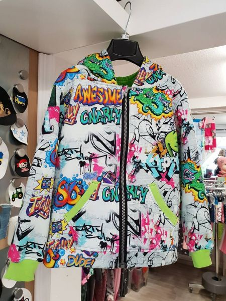 Sweatjacke Graffiti