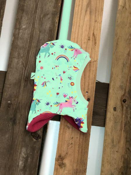 Schlupfmütze-Einzelstück Einhorn auf mint