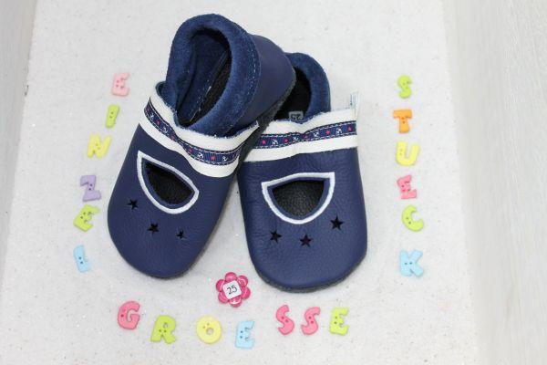 Lederpuschen Gr.25 Sandale