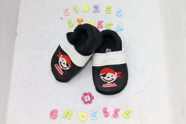 Lederpuschen Gr.19 Pirat
