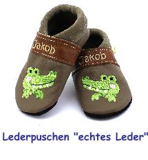 low priced ea9ed 9ca02 Sternpuschen - Lederpuschen, Krabbelschuhe, personalisierte ...