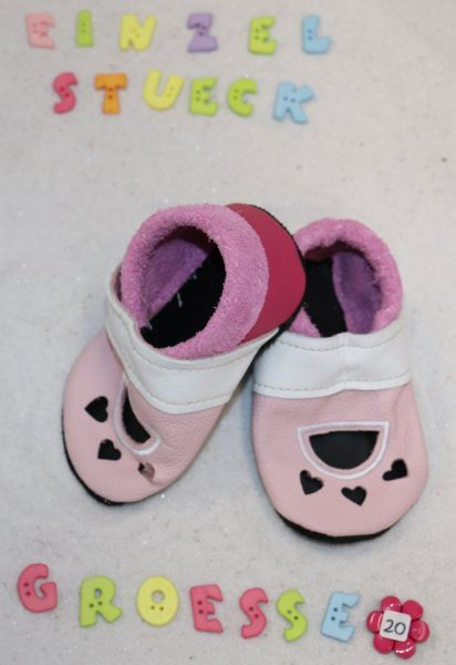 Lederpuschen Gr.20 Sandale 4085