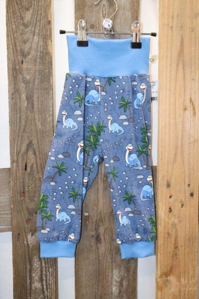 Kinderhose Gr. 80 Jersey Dino blau