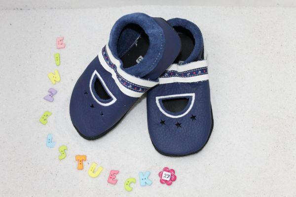 Lederpuschen Gr.27 Sandale