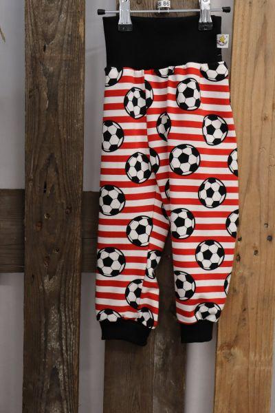 Kinderhose ab Gr. 56 Fußball rot/weiß