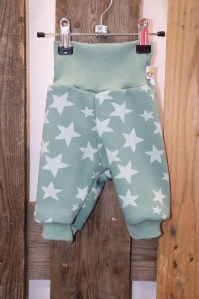 Kinderhose Alpenfleece Gr. 56 Sterne auf grün