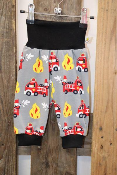 Kinderhose Gr. 62 Jersey Feuerwehr grau