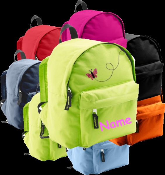 Rucksack in 2 Größen aus Stoff Model: Im Flug