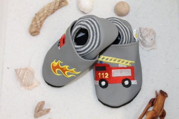 Lauflernschuhe mit Softbündchen Feuerwehr