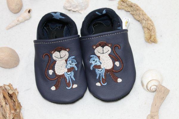 Krabbelschuh mit Softbündchen Affe
