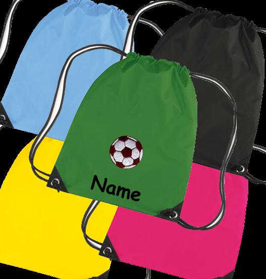Turnbeutel in diversen Farben Model: Fussball